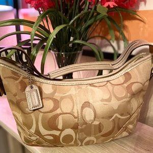 Coach Tan Mini Hobo Handbag